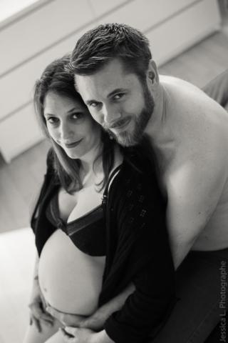 Shooting grossesse à domicile strasbourg