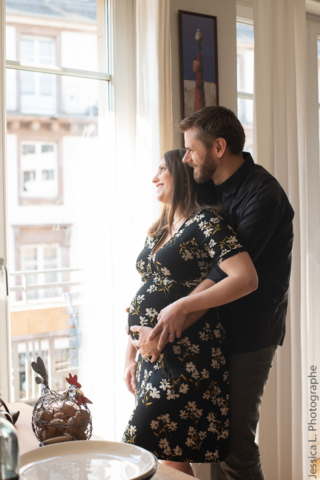 Shooting grossesse à domicile