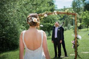 Découverte des mariés alsace