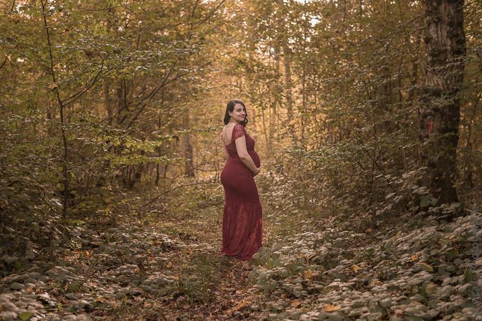 Vania & Achille, shooting grossesse en forêt