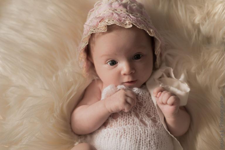 Line, la séance photo d'un bébé né sous confinement